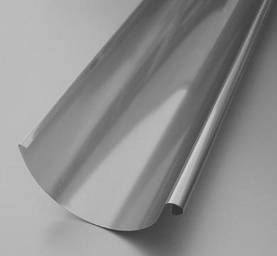 BRANDT 6-teilige Dachrinne halbrund 0,40 mm 3,0 m Blank