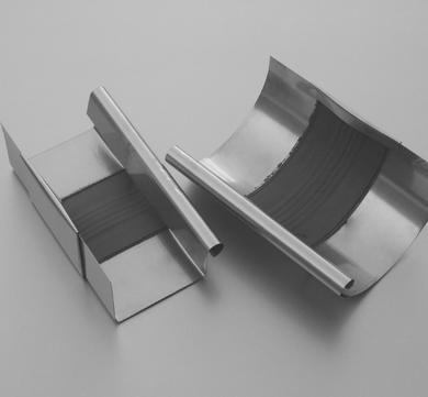 BRANDT 6-teilige Rinnendila halbrund 0,50 mm 26 cm Blank