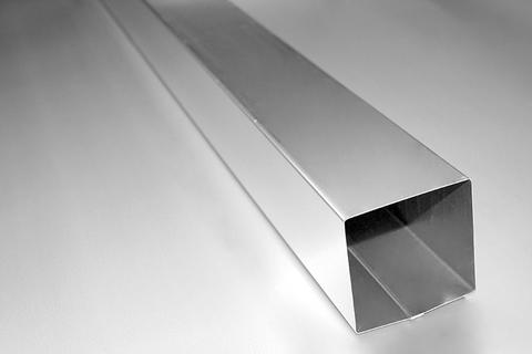 BRANDT 4-teiliges Fallrohr kastenförmig 0,40 mm 2,0m 1.4521, v2a FME, 120 mm Edelstahl verzinnt