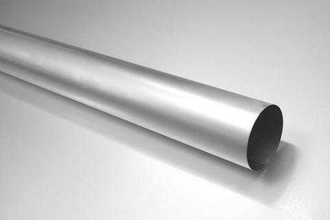 BRANDT 6-teilige Fallrohr rund 0,40 mm 2,0 m 100 mm Blank