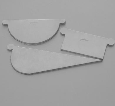 BRANDT 6-teilige Rinnenboden halbrund links rechts Blank