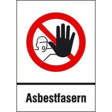 Hauser Verbotsschild Asbestfasern 700x500 mm