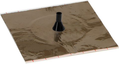Eisedicht Leitungsmanschette D1 8-11 mm mit Alu-Butyl Klebekragen EPDM