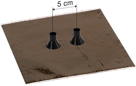 Eisedicht Leitungsmanschette GDD 21 15-22 mm mit Alu-Butyl Klebekragen EPDM