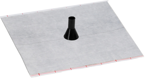 Eisedicht Leitungsmanschette D1 8-11 mm mit Vlies-Butyl Klebekragen EPDM