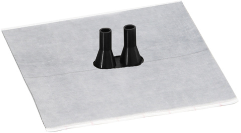 Eisedicht Doppelleitungsmanschette DD3 8-11 mm mit Vlies-Butyl Kleberand EPDM