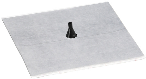 Eisedicht Leitungsmanschette D1 4-8 mm mit Vlies-Butyl Klebekragen EPDM