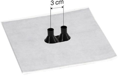 Eisedicht Leitungsmanschette GDD21 2x15-22 mm mit Vlies-Butyl 4 Stück je Paket