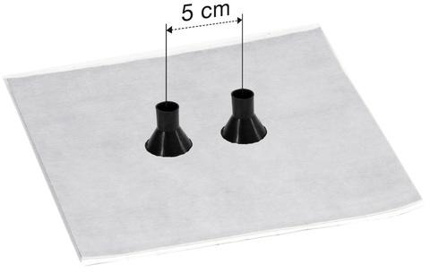 Eisedicht Leitungsmanschette GDD 21 15-22 mm mit Vlies-Butyl Klebekragen EPDM