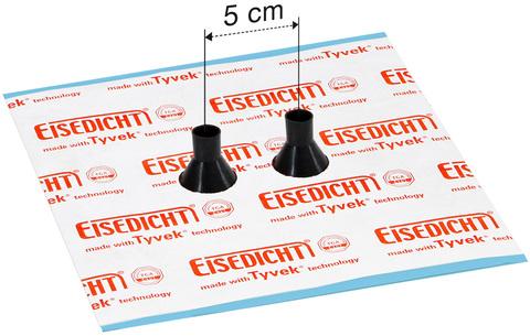 Eisedicht Leitungsmanschette GDD21 15-22 mm mit Tyvek Klebekragen EPDM