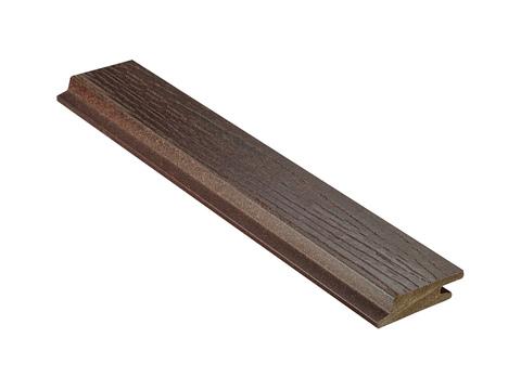 NATURinFORM Fassadenprofil Die Gestaltende small 6 m WPC 18x 70 mm Holzmaserung gebürstet Kastanienbraun