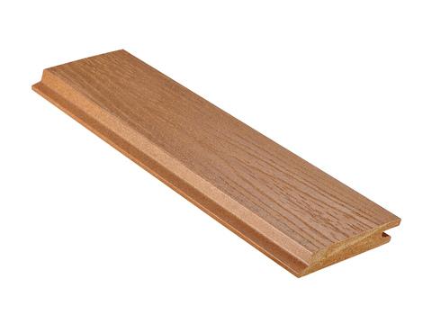 NATURinFORM Fassadenprofil Die Gestaltende XL 4 m WPC 18x103 mm Holzmaserung gebürstet Eichenbraun
