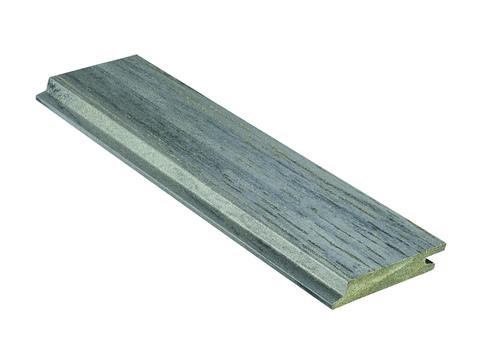 NATURinFORM Fassadenprofil Die Gestaltende XL 4 m WPC 18x103 mm Holzmaserung gebürstet Grafitgrau