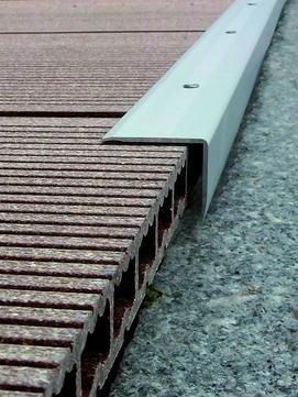 NATURinFORM Abschlusswinkel 35x30mm 2,7m Aluminium
