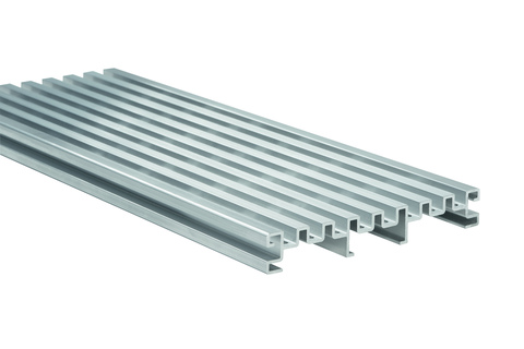 NATURinFORM Terrassenbodenrost 4 m 20x140 mm Aluminium