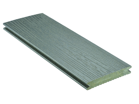 NATURinFORM Massivdiele Die Kernige 4 m WPC 21x139 mm Holzmaserung geriffelt Grau