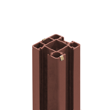 NATURinFORM Pfostenset Der Flexible 195 cm zum Aufdübeln mit Grundplatte Braun