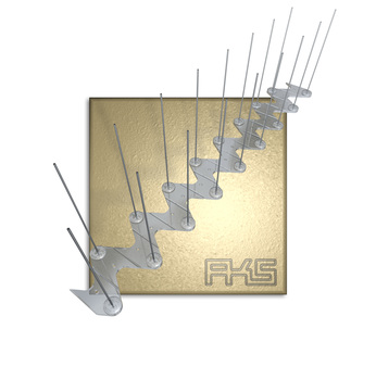 AKS PIXX-Transparent Duo 50cm Taubenstopleiste / Kunststoff / V2A-Spikes Transparent