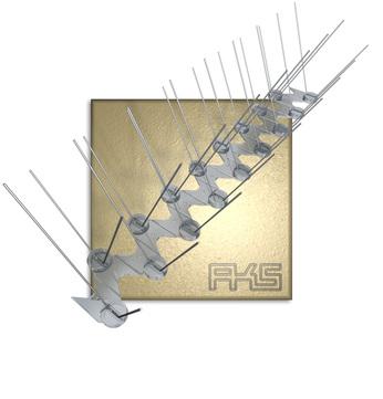 AKS PIXX-Transparent Quattro 50cm Taubenstopleiste / Kunststoff / V2A-Spikes Transparent
