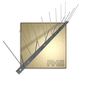 AKS PIXX-Duo Blech Lite 1,6mm 100cm Taubenstopleiste komplett 100 Stück im Paket Edelstahl DIN 1.4301