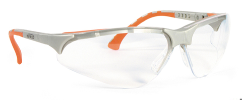 Intra Schutzbrille Terminator Plus Gestell silber/orange Klar