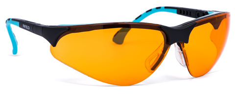 Intra Brille Terminator Outdoor Plus 9395-120 Gestell schwarz/mint Orange