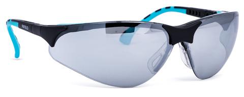 Intra Brille Terminator Outdoor Plus Gestell schwarz/mint Silvermirror