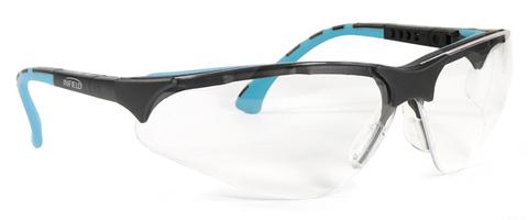 Intra Schutzbrille Terminator Plus Gestell schwarz/mint, PC AF UV Klar