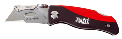 Bessey Tool Klingen-Klappmesser mit Kunststoffgriff Kunststoff