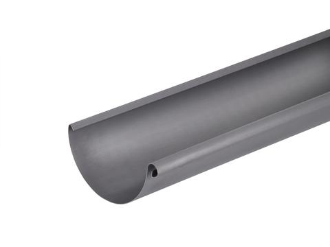 Umicore 6-teilige Dachrinne halbrund 0,70/333 mm 5 m mit Folie Titanzink Quartz vorbewittert