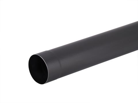 Umicore 6-teilige Fallrohr rund 0,70/100/3 mm geschweißt Titanzink Anthra
