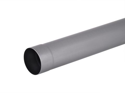 Umicore 8-teilige Fallrohr rund 0,70/80/2 mm geschweißt mit Folie Titanzink Quartz vorbewittert