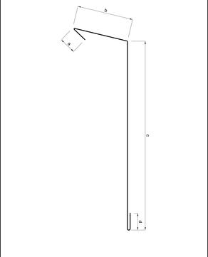 Umicore Traufstreifen 200/0,7/50 3m mit Falz Alu 105 Grad / 15 Aluminium