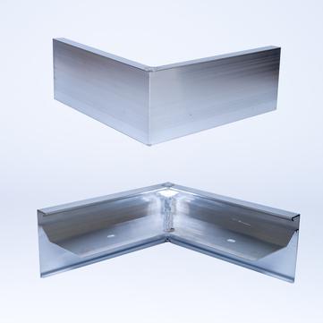 ALURAL Dachrand N 100 Außeneck Aluminium
