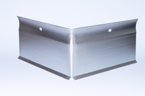 ALURAL Wandanschluss W5 Außeneck Aluminium