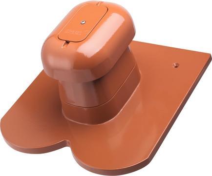 Erlus Biber System Sanitärlüfter komplett Alu /rot EPDM Rot