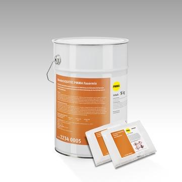 Bauder Liquitec PMMA Fasermix 5 kg/Eimer Anthrazit