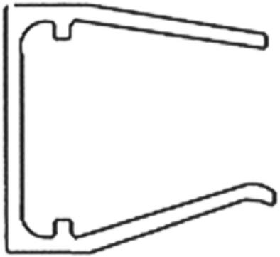 Wilkes Abschlussprofil 16/ 980 mm pressblank Alu