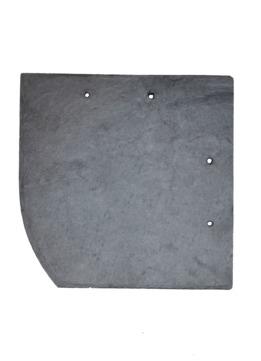 Böger (Theis) Schiefer Bogen 30x30 cm links Assulo gelocht Spezial rechts Deckung Schiefergrube Assulo A 1