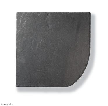 Magog Schiefer Bogen 30x30 cm rechts gelocht links Deckung Schiefergrube C83