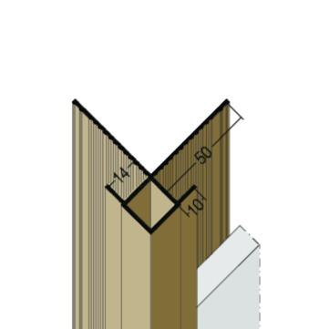 PROTEKTORWERK Außenkante 3504 neu 2,5 m mit Schnittkantenüberdeckung für 14 mm Platte Stück Schwarz