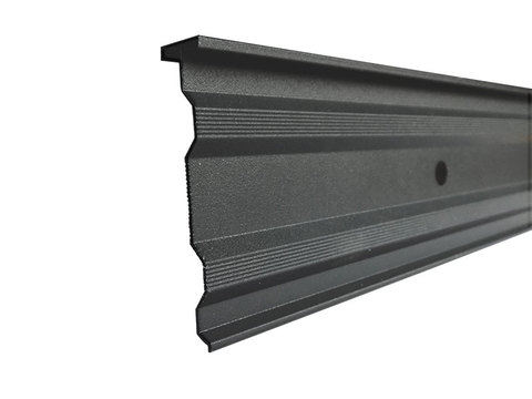 DTB Wandanschlussschiene 200-SBG/3 m Alu 99 m/Bund stranggepresst 8 mm Rundloch RAL 7016 Anthrazitgrau