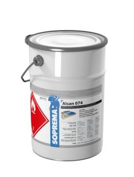 SOPREMA ALSAN 074 Spachtelmasse 10,0kg anteilig 2 Pakete Katalysator RAL7032 Kieselgrau