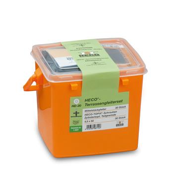 HECO HECO-Terrassenset 30 Mittel stücke und Schrauben in Kunststoffbox