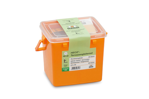HECO eco-terrassenset 30 mm Rand stücke und Schrauben in Kunststoffbox