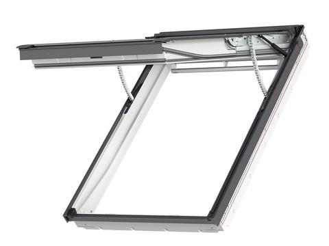 VELUX Klapp-Schwing-Fenster Kunststoff GPU SK08 006621 114x140 cm Polyurethan Energy Plus Integra Elektrofenster