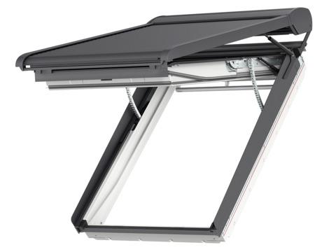 VELUX SMH SK08 114x140 cm 0000S Elektro-Rollladen Aluminium dunkelgrau