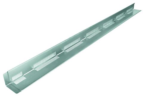 Altvater Kiesfangleiste 1,5 mm H60/80 Alu für Folienstreifen Länge 2,50 m