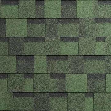 IKO Bitumen Schindel Cambridge Xtreme 43, laminierte Strukturschindel Amazonasgrün