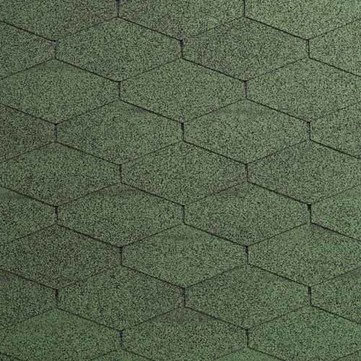 IKO Bitumen Schindel Diamant Plus 03, Dreieck 2,00 m2 je Paket Amazonasgrün